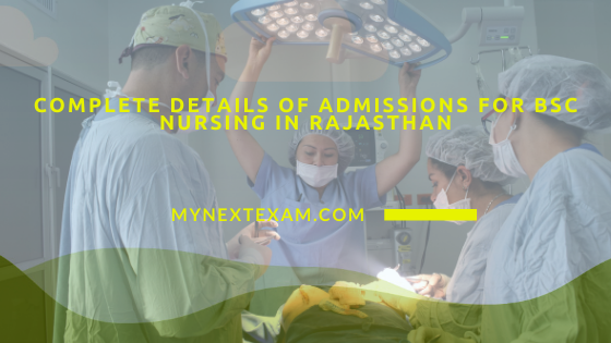 Admissions for B.Sc Nursing in Rajasthan
