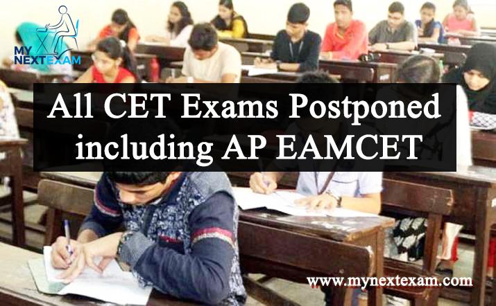 All CET Exams Postponed including AP EAMCET