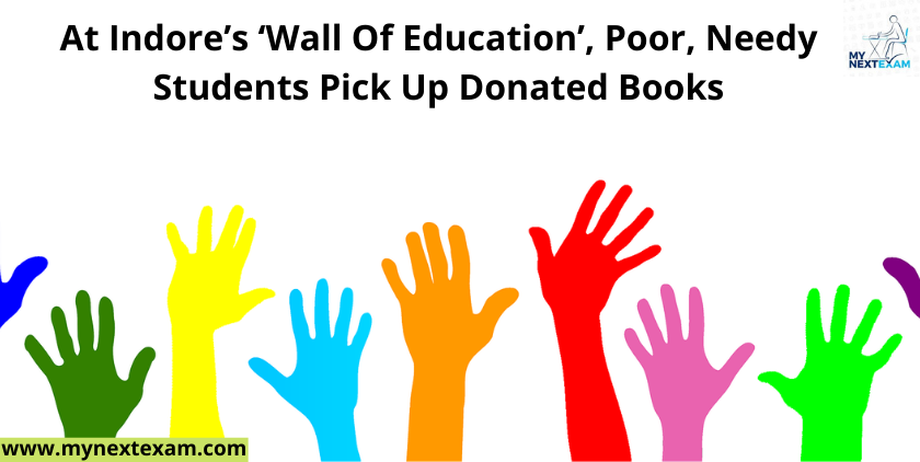 At Indore's 'Wall Of Education', Poor, Needy Students Pick Up Donated Books