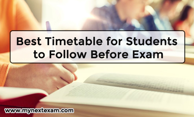Best Timetable for Students to Follow Before Exam