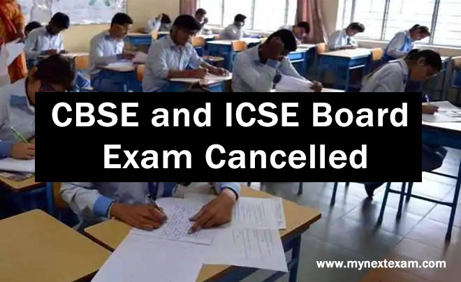 CBSE and ICSE Board Exam Cancelled