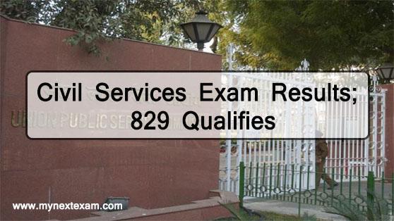 Civil Services Exam Results 2019; 829 Qualifies