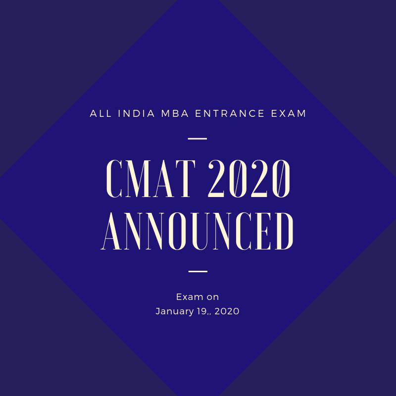 CMAT 2020 Announced