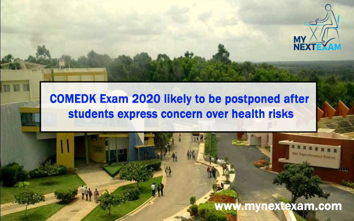 COMEDK Exam 2020 likely to be postponed after students express concern over health risks