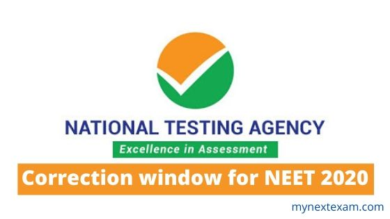 NEET 2020: Correction window reopened till April 14, 2020