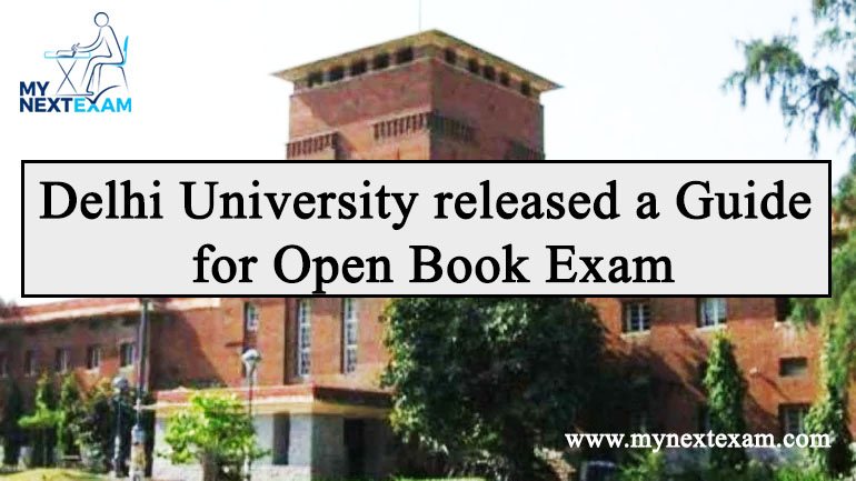 Delhi University released a Guide for Open Book Exam