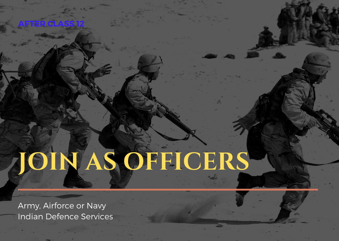 How to join Indian Army, Airforce or Navy as an officer after class 12