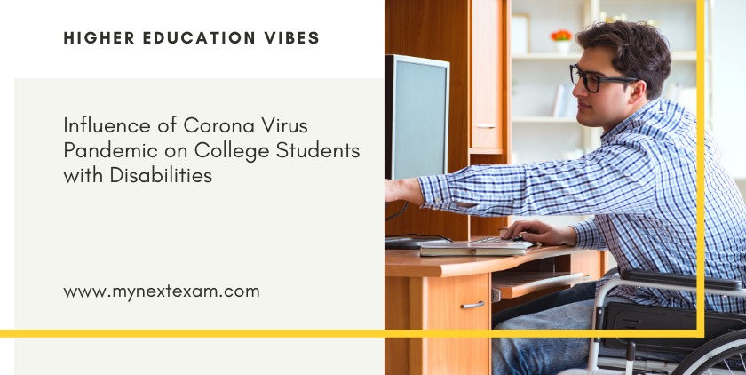 Influence of Corona Virus pandemic on Students with Disabilities