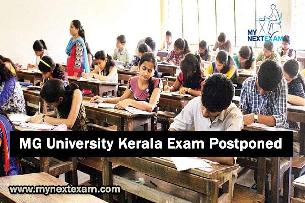 MG University Kerala Exam Postponed 2020