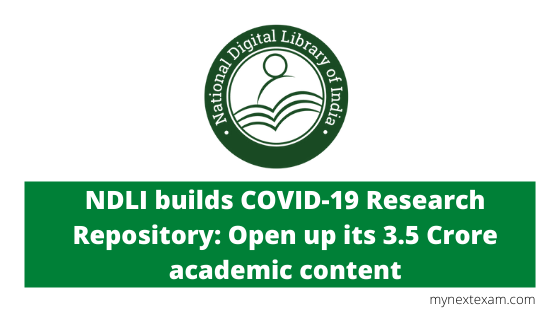NDLI builds COVID-19 Research Repository: Open up its 3.5 Crore academic content