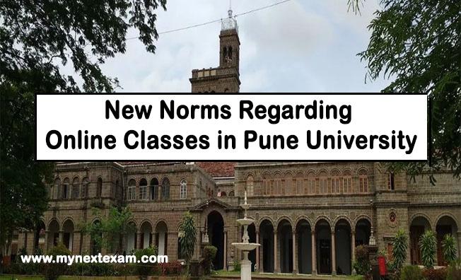 New Norms Regarding Online Classes in Pune University