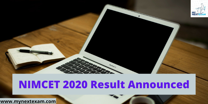 NIMCET 2020 Result Announced