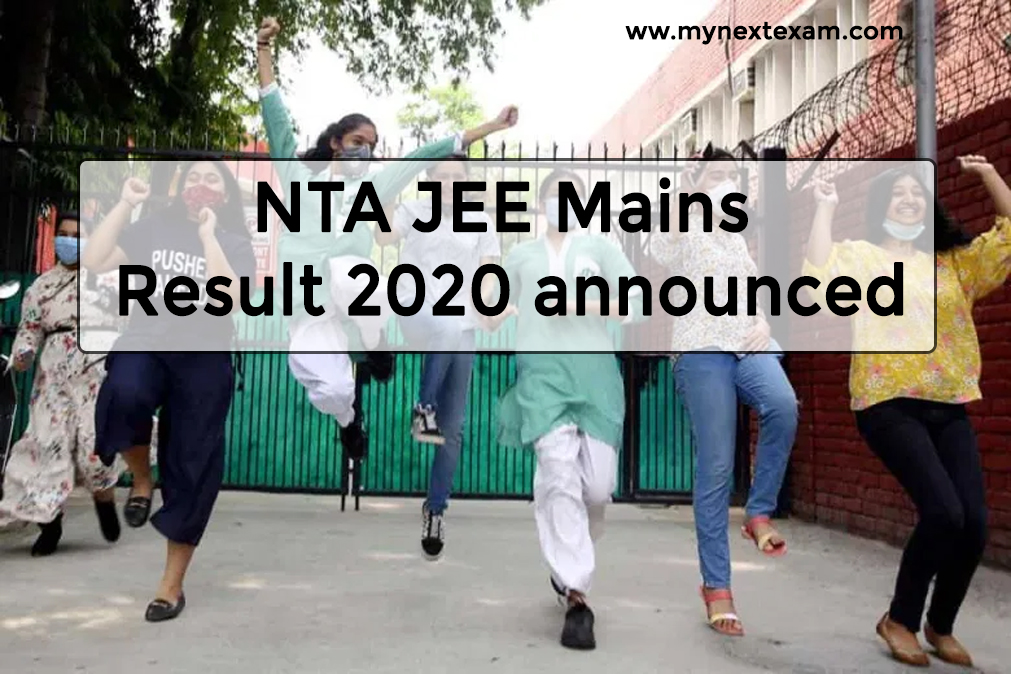 NTA JEE Mains Result 2020 announced