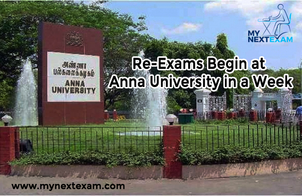Re-Exams Begin at Anna University in a Week