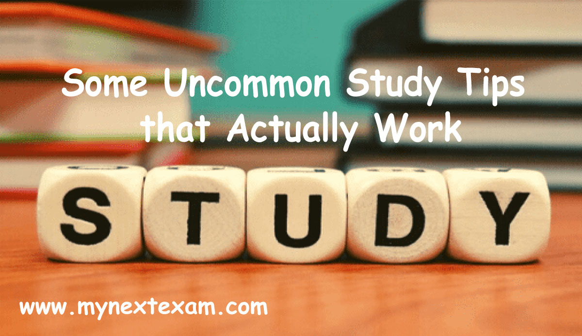 Some Uncommon Study Tips that Actually Work