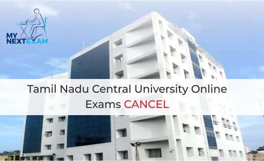 Tamil Nadu Central University Online Exams Cancel