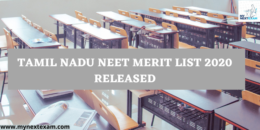 Tamil Nadu Neet  Merit List 2020 Released