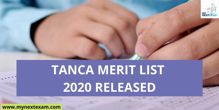 TANCA Merit List 2020 for GATE and TANCET Released