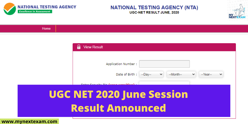 UGC NET 2020 June Session Result Announced